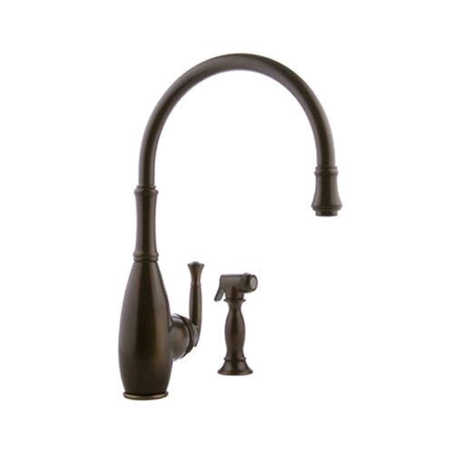 Duxbury Single Handle Single Hole Kitchen Faucet with Side Spray