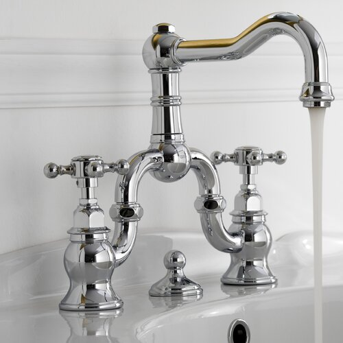 Graff Canterbury Widespread Bathroom Faucet with Double Cross Handles