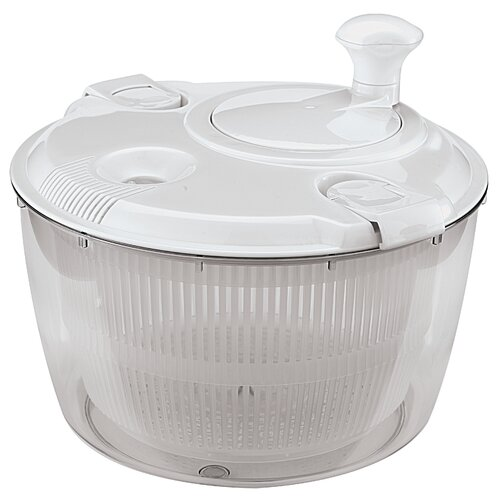 Paderno World Cuisine Manual Salad Spin Dryer in White