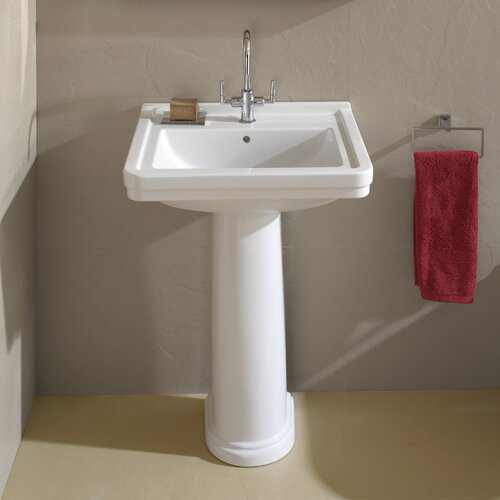 2 Pedestal Sinks Bathroom : Bissonnet Universal Noble Pedestal Bathroom Sink