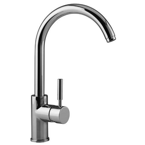 Cromo Single Handle Single Hole Theo High Arch Kitchen Faucet