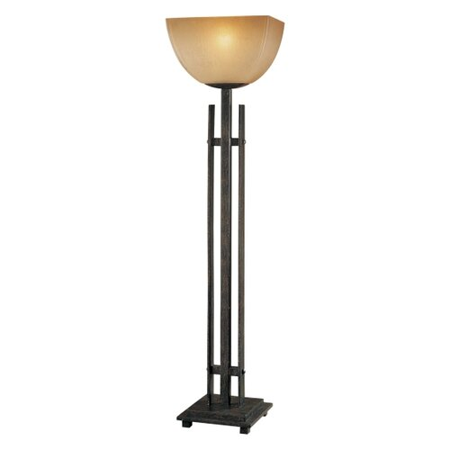 "Minka Ambience Lineage Torchiere 31.25"" H Table Lamp with Bowl Shade"
