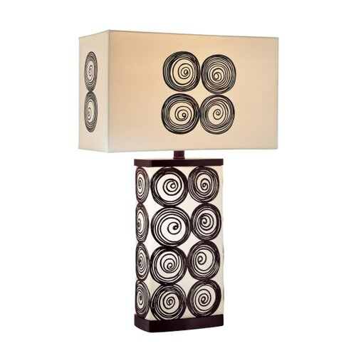 "Minka Ambience 26"" H 1 Light Swirly Accent Table Lamp"