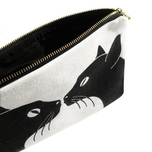 Naked Decor Kissing Cats Amenity Bag