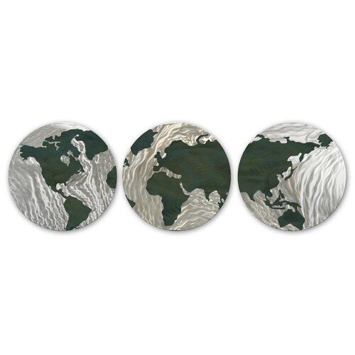 All My Walls 3 Piece Globular Wall Décor Set
