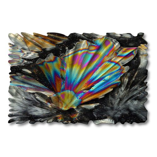 'Cosmic Crystals' by Ash Carl Original Painting on Metal Plaque