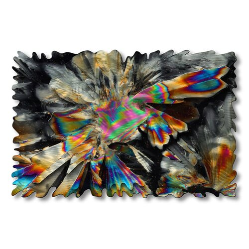 All My Walls 'Crystallized Universe' by Ash Carl Original Painting on Metal Plaque
