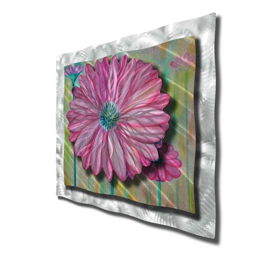 All My Walls 'Zinnia' by Ash Carl Original Painting on Metal Plaque