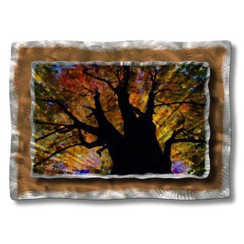 'Brilliant Branches' by Ash Carl Original Painting on Metal Plaque