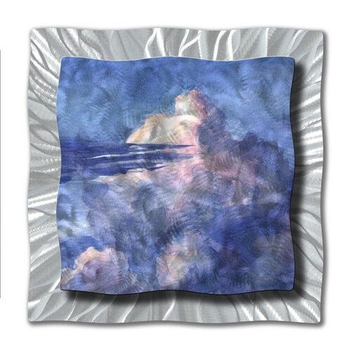 All My Walls 'Clouds In The Sky' by Ash Carl Original Painting on Metal Plaque