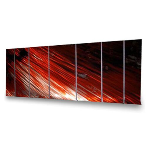 All My Walls Abstract' by Ash Carl 7 Piece Original Painting on Metal Plaque Set