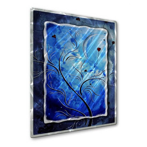 All My Walls 'Love In The Night' by Megan Duncanson Original Painting on Metal Plaque