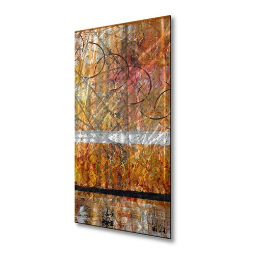 All My Walls 'Set Alight' by Ruth Palmer Original Painting on Metal Plaque
