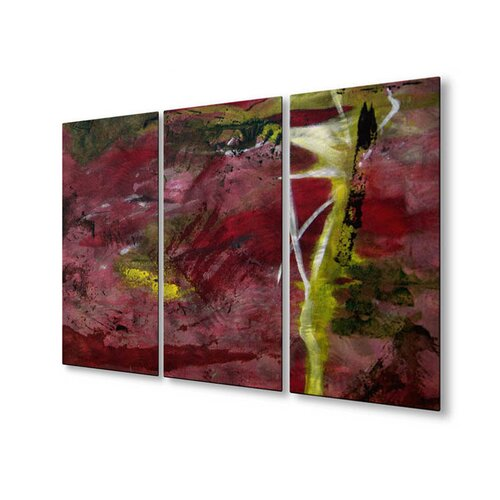 All My Walls 'Sweet Inspiration' by Ruth Palmer 3 Piece Original Painting on Metal Plaque Set