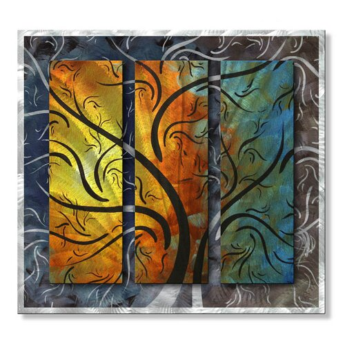 All My Walls 'Mystical Beauty II' by Megan Duncanson Original Painting on Metal Plaque
