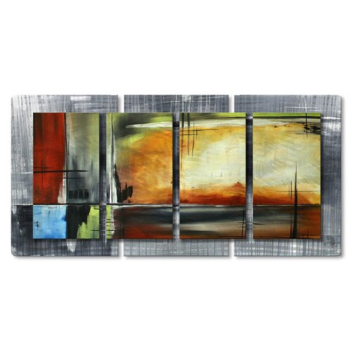All My Walls 'On Track II' by Megan Duncanson Original Painting on Metal Plaque