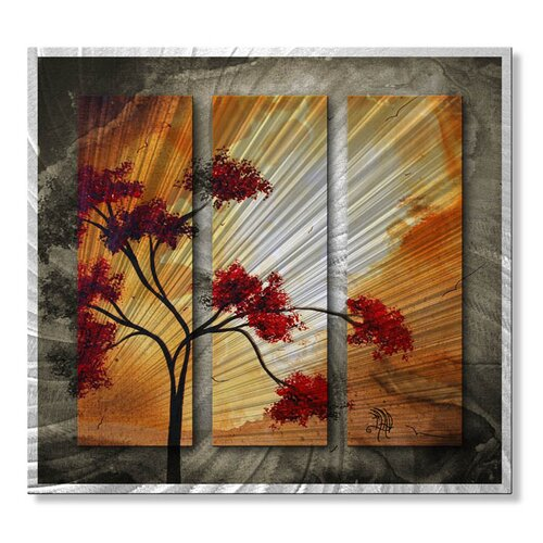 'Empty Nest I' by Megan Duncanson Original Painting on Metal Plaque