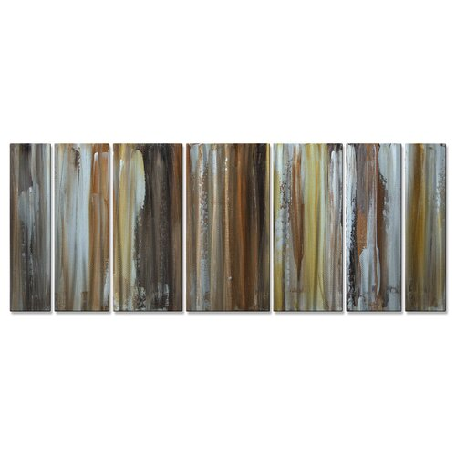 'From The Earth II' by Megan Duncanso 7 Piece Original Painting on Metal Plaque