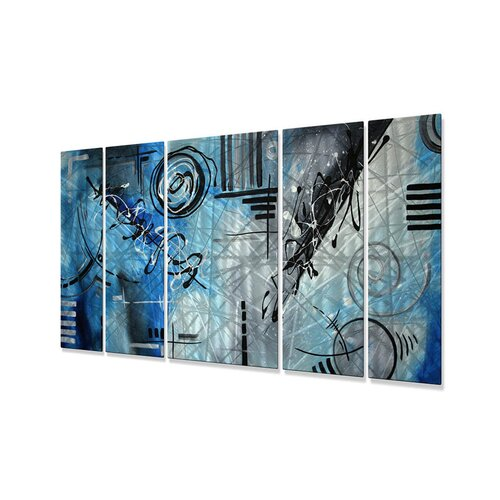 All My Walls 'Divinity' by Megan Duncanso 5 Piece Original Painting on Metal Plaque