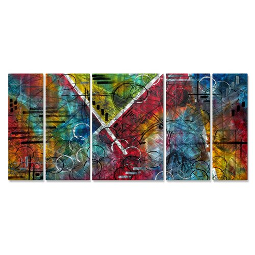 All My Walls 'Beauty Amongst The Chaos' by Megan Duncanso 5 Piece Original Painting on Metal Plaque