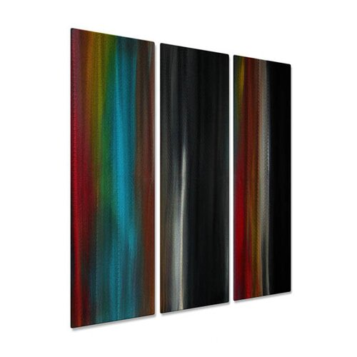 All My Walls 'Sense The Change' by Megan Duncanso 3 Piece Original Painting on Metal Plaque
