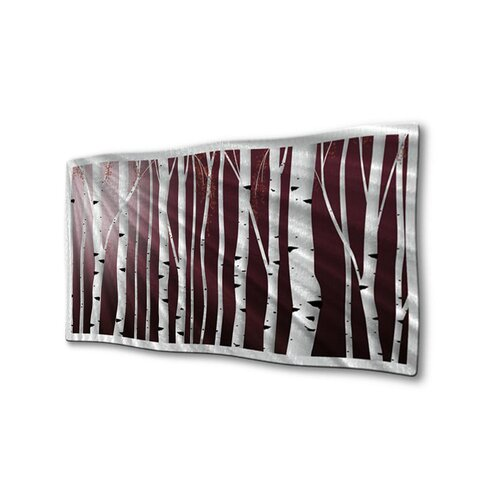 All My Walls 'Poplar Forest' by Ash Carl Original Painting on Metal Plaque