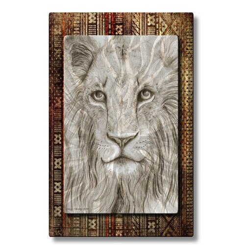 All My Walls 'African Lion' by Holly Carmichael Original Painting on Metal Plaque