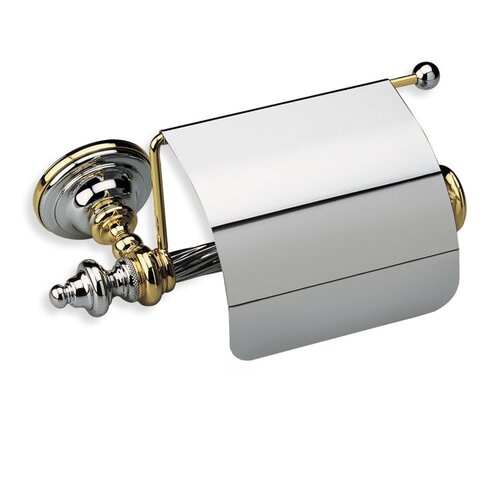 Stilhaus by Nameeks Giunone Wall Mounted Classic Style Toilet Roll Holder with Cover