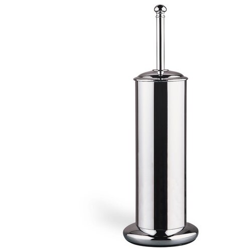 """Stilhaus by Nameeks Idra 15.8"""" Free Standing Round Toilet Brush Holder in Chrome"""