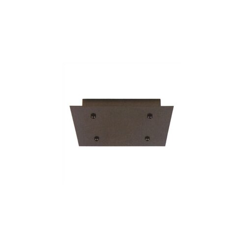 Fusion Jack Four Port Square LED Canopy in Bronze