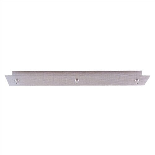 "LBL Lighting 26"" Rectangular Fusion Jack Canopy for Three Pendant Configurations"