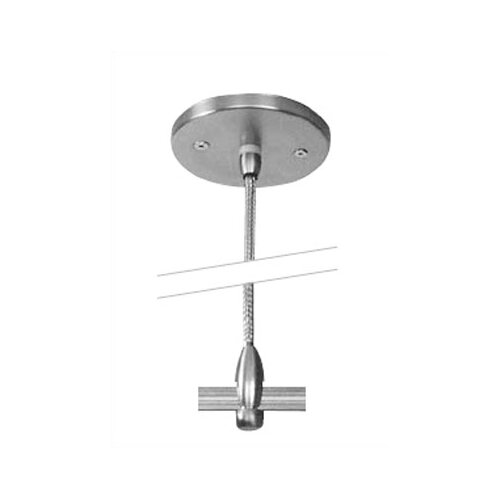 """LBL Lighting 4"""" Single-Post Power Feed Canopy for LED Monorail"""
