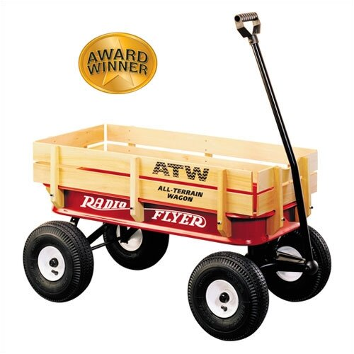 Radio Flyer All-Terrain Steel & Wood Wagon Ride-On