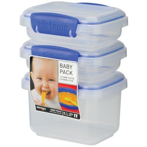 Klip It 3 Piece Baby Food Container Set