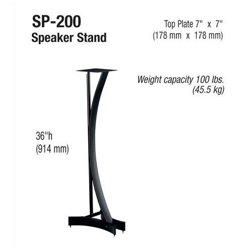 "Bello Heavy Duty 36"" Fixed Height Speaker Stand (Set of 2)"