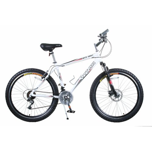 Titan Men's White Knight Alloy Frame All-Terrain Mountain Bike