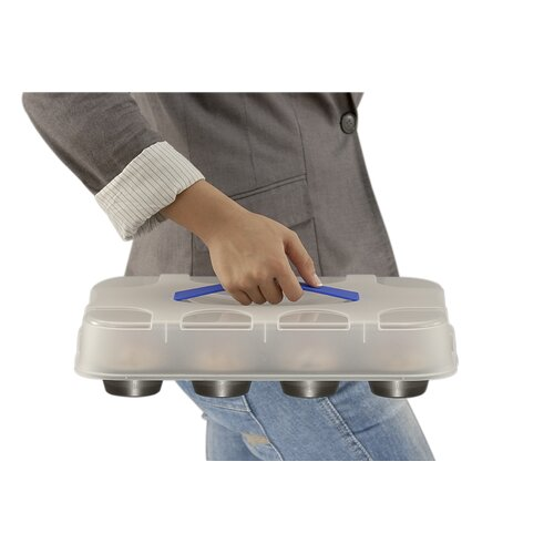 Frieling Zenker Bakeware by Frieling Muffin Pan with Carrying Lid