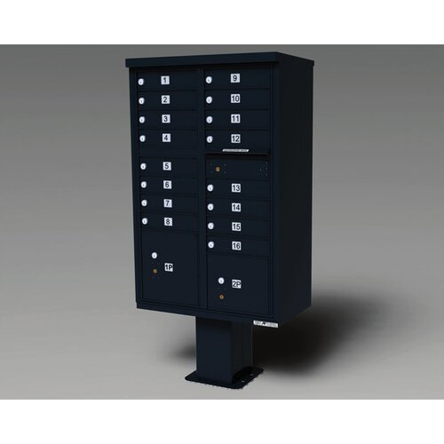 Florence Mailboxes 1565 High Security Cluster Box Units (16 Box Unit)