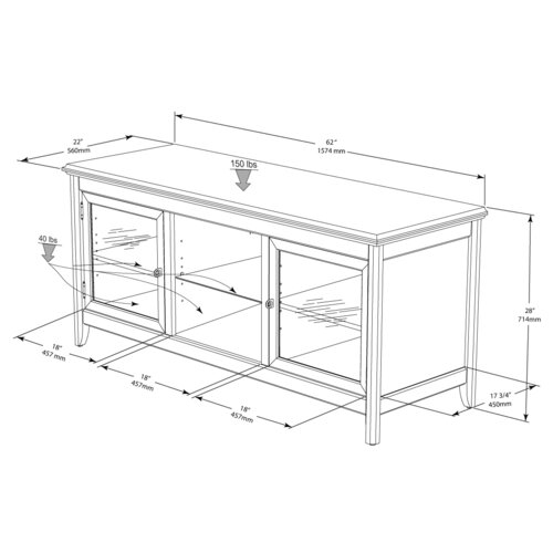 Wildon Home ® Hi-Boy 62' TV Stand