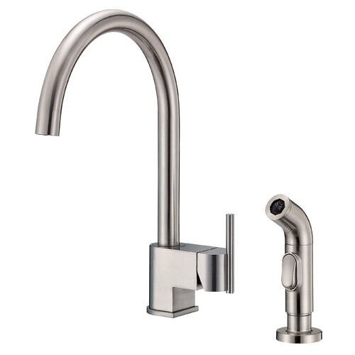 Como Single Handle Centerset Kitchen Faucet with Spray
