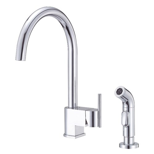 Como Single Handle Widespread Kitchen Faucet with Spray