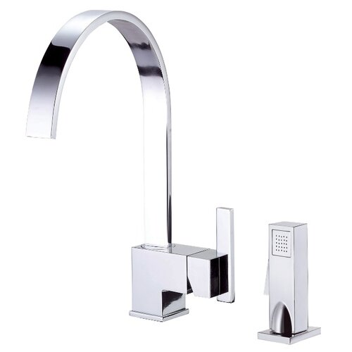 Sirius Single Handle Widespread Kitchen Faucet with Spray