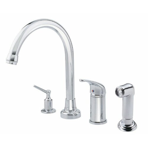 Melrose Single Handle Widespread Kitchen Faucet with Spray