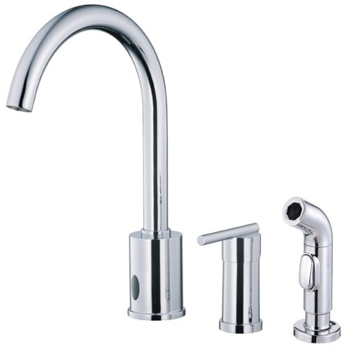 Parma Dual Function Single Handle Widespread Kitchen Faucet with Spray