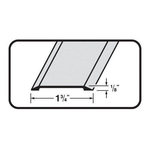 M-d Products Flat Top 0.13 x 1.75 Saddle Threshold in Satin Nickel