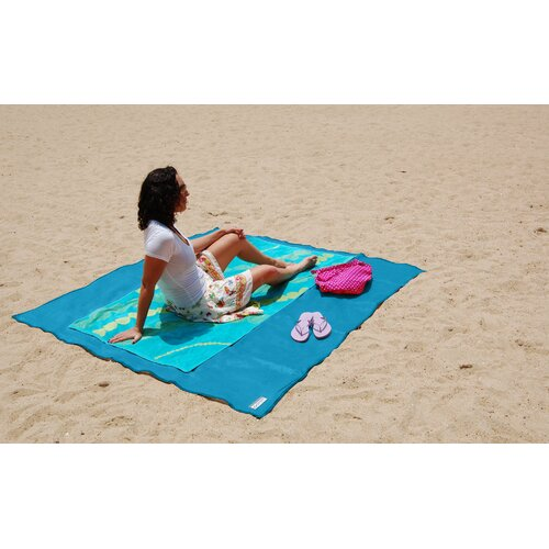 CGear Sand Free Multimat MultiIndoor/Outdoor Rug Blue Plaid Indoor/Outdoor Rug