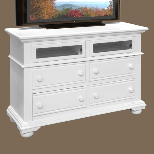 American Woodcrafters Cottage Traditions 4 Drawer Media Dresser