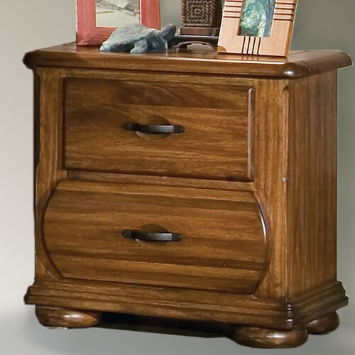 American Woodcrafters Timberline 2 Drawer Nightstand