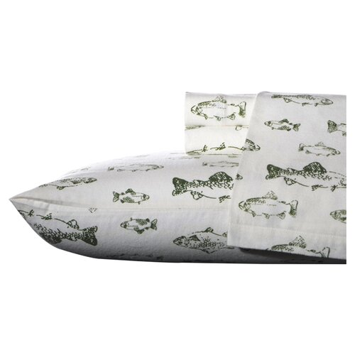 Eddie Bauer School of Fish Flannel Sheet Set
