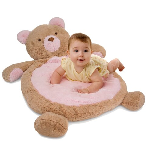 Baby Mat with Bear in Pink